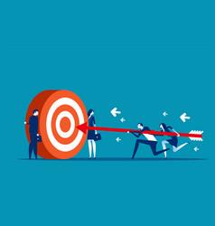 Business team goal achievement concept vector
