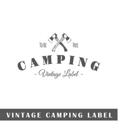 Camping label vector