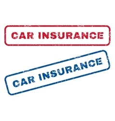 Car Insurance Rubber Stamps vector