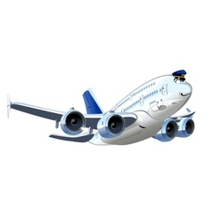 Cartoon Airliner vector image vector image
