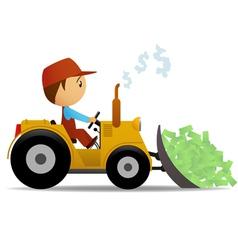 Cartoon bulldozer vector