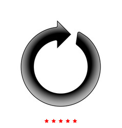 circle arrow it is icon vector image
