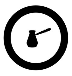 Coffee pot icon black color in circle vector