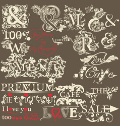 collection of antique hand drawn ands the premium vector image