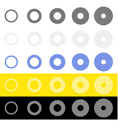 Concentric circles rings in sequence abstract vector
