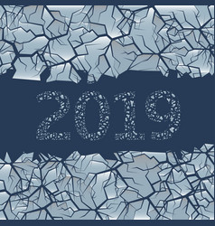 Cracked ice background vector