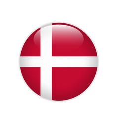 Denmark flag on button vector