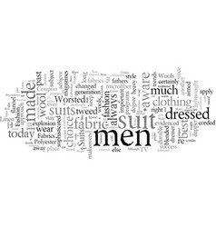 Distinctive men s suits begin with the right vector