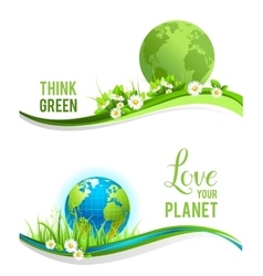 Eco design and globe vector image