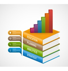 Education books step option Infographics design vector image