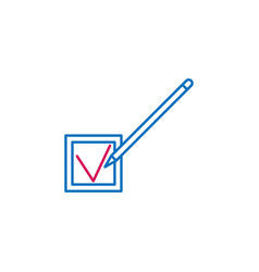 Elections checking pen outline colored icon can vector