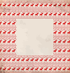 Frame with traditional deer ornament vector image vector image