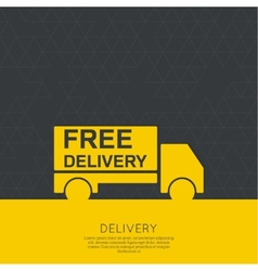 Freight transport vector image