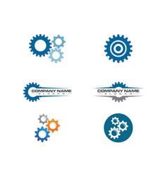 gear logo template icon vector image
