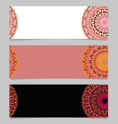 Geometrical horizontal floral mandala banner vector