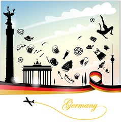 Germany background with flag vector