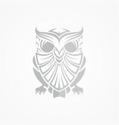 grey owl vector image