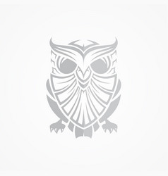 Grey owl vector