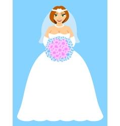 Happy bride vector