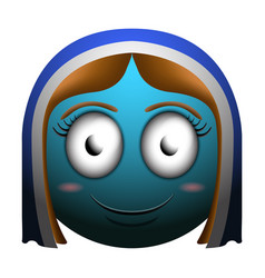 happy girl emoji vector image