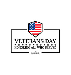 happy veterans day on a white background vector image