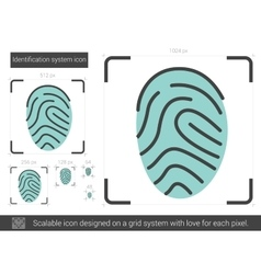 Identification system line icon vector