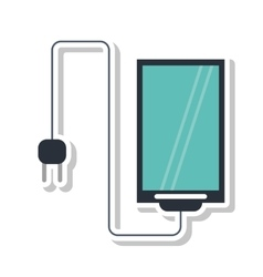Isolated smartphone mobile design vector