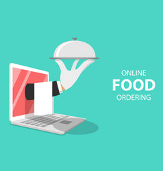 isometric flat concept for online food vector image