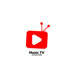 Music tv logo design template vector