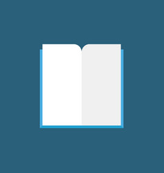 open book flat icon modern education vector image