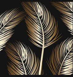 Palm tree leaf background pattern design vector