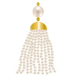 pearl pendant vector image