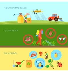 Pesticides Banners Set vector