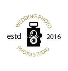 Photographer icon logo vector