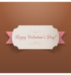 Realistic Valentines Day greeting paper Banner vector image