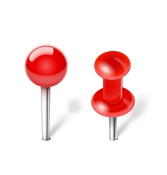 Red Push pin vector image