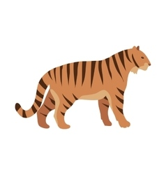 red tiger cartoon isolated mama animal vector image