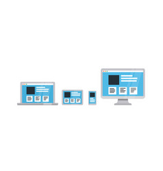 responsive web design on different devices flat vector image