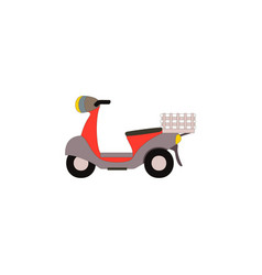 retro moped scooter side view vector image