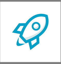 rocket outline thin flat digital icon for web vector image