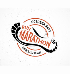 run icon running symbol marathon poster and logo vector image