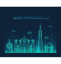San Francisco City Trendy line art style vector