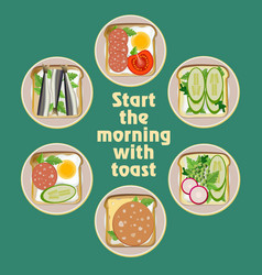 Set different toast vector