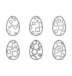 set of easter eggs on a white background vector image