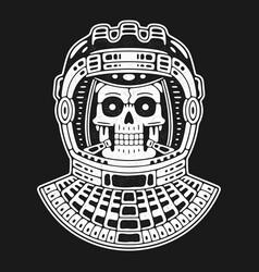 Spaceman skull modern space logo vector