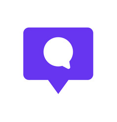 speech bubble chat icon with pin mark comment vector image