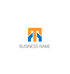 square line initial business company logo vector image
