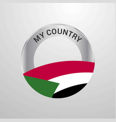 sudan my country flag badge vector image