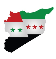 Syrian Flag vector image