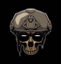 Tactical soldier color vector